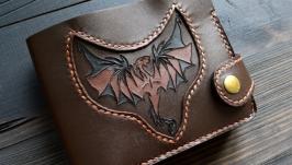 Гаманець з драконом (9 кишень для карток, збільшене відділення для монет)