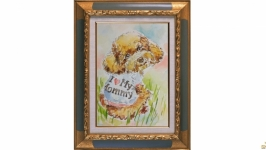 Портрет соки собака пес песик собачка пудель