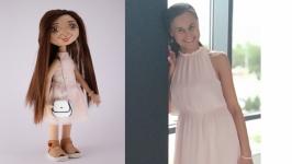 Текстильная интерьерная кукла с портретным сходством