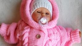 Комбінезон дитячий вязаний для немовляти.
