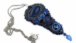 Кулон ′ Синяя ночь′ с лазуритом и содалитом..
