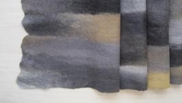 Шарф мужской валяный, шарф паутинка валяный мужской ′Эдинбург′
