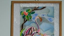 картины в витражной технике (роспись по стеклу)