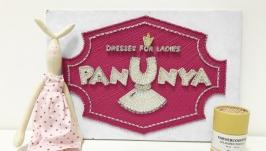 Логотип детского бренда ′Panunya′ в технике string art
