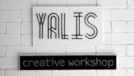 Логотип своей мастерской ′YALIS′ в технике string art