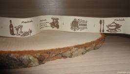 Бирка текстильная 2.5 см - Hand made