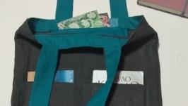 ЭКО сумка натуральный лён