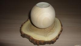 Подсвечник деревянный Шар 8 см
