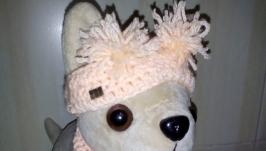Шапка и шарф для Чи Чи Лав. Одежда для собачки Чи Чи лав.