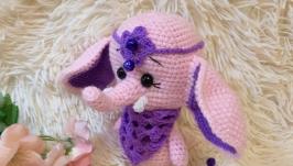 Мягкая игрушка вязаный слон слоник слоненок