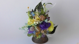 Композиция из искусственных цветов декоративная подарок