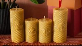 Комплект натуральних свічок з вощини