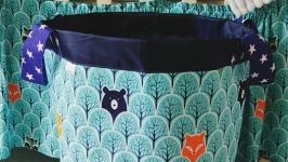Текстильная корзинка для игрушек детскую Winter Forest