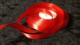 Атлас красный бархат