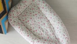 Гнездышко для новорожденного (кокон, бебинест) Flowers