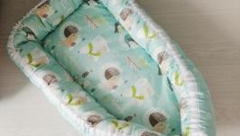 Гнездышко для новорожденного (кокон, бебинест) Penguins