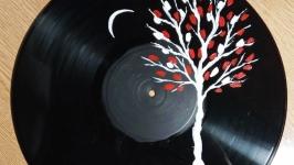 Картина на виниловом диске. Акриловая живопись, Авторская работа.