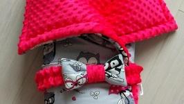 Одеяло-конверт Owls PinkGrey