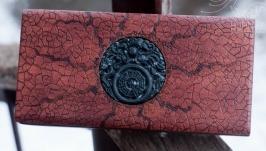 Деревянная шкатулка с резным драконом ′Medallion 4′
