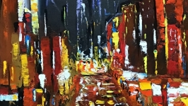 Абстракция,арт «Ночной город»