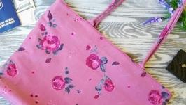 Сумка Розовые розы на розовом 1