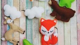 Мобиль для детской кроватки Forest animals