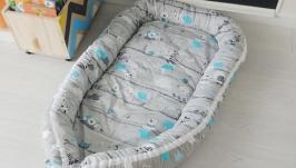 Кокон для ребенка (гнездышко, бебинест) BearsStars