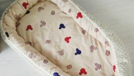 Кокон для ребенка (гнездышко, бебинест) British Mickey