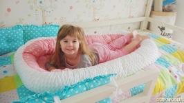 Гнездышко для новорожденного (кокон, бебинест) Pink Hearts