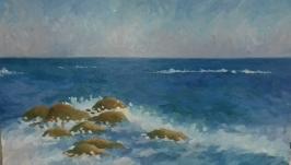 Морской пейзаж. Живопись. Масло.
