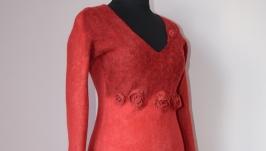 Платье валяное Фламенко, 40-44 размер