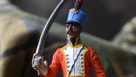 Оловянный солдатик. Трубач 5-го гусарского полка. Франция, 1812 год