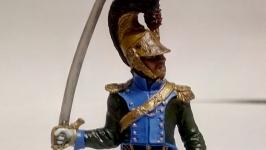 Оловянный солдатик. Офицер шеволежерского полка. Франция, 1811-15 гг.