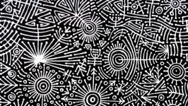 Абстрактная фантастическая картина. Энергетическая акриловая живопись.