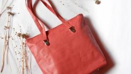 Кожаная сумка «Коралловый риф»
