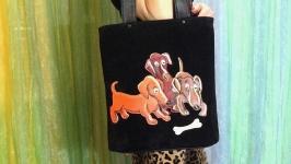 Кожаная сумка ′Косточка′