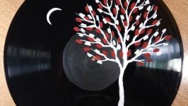 Древо жизни. Авторска картина на виниловом диске. Акриловая живопись.