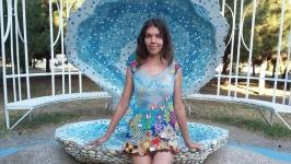 Платье-туника ′Мальдивы′, ирландское кружево