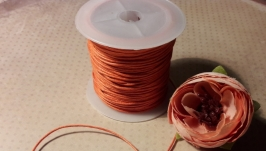 Шнур вощеный оранжевый