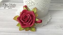 Брошка Троянда