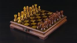 Янтарные шахматы Амбассадор