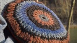 Декоративна в′язана подушка