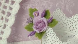 Шпилька Фіолетова троянда