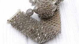 Комплект ′Романтик′ кулон браслет сотуар