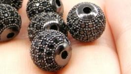 Бусина LUX Milano шарик черный