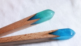 Деревянная шпилька для волос (2 варианта)