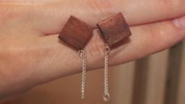 Деревянные сережки из Сапеле