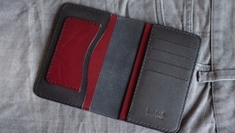 Органайзер для паспорта и автодокументов Слим (ГрафитБургунди)