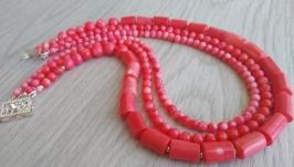 Колье ′Кораллы розовые ′.