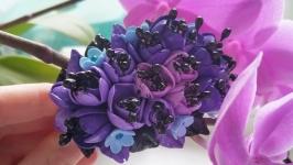 Широкий браслет с цветами